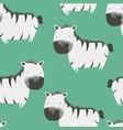 sketch zebra seamless pattern for boys vector image vector image