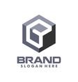 square b cube box initial logo creative concept vector image vector image