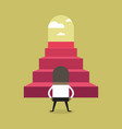 successful african businessman climbing steps vector image vector image