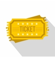 Ticket icon flat style vector image vector image