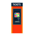 tickets machine with sensor screen and convenient vector image vector image