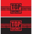 top secret black and red vector image vector image