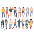 trendy young people vector image vector image
