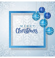 white and blue merry christmas banner background vector image vector image