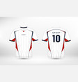 white red and blue pattern sport football kits vector image vector image