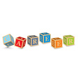 Word CAREER written with alphabet blocks vector image vector image