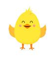 yellow happy chicken vector image vector image