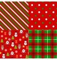 Set of christmas patterns vector image