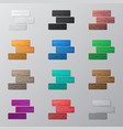 set of colorful bricks vector image