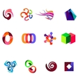 12 colorful symbols set 19 vector image vector image