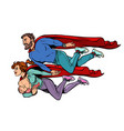a family superheroes dad mom and baby vector image vector image