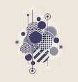 abstract art background with modern geometric vector image vector image