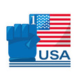 american flag with number one symbol vector image vector image