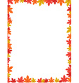 Autumn border design vector image vector image