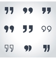 black quote icon set vector image vector image