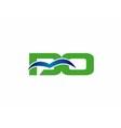 BO initial company group logo vector image vector image