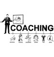 business coaching concept hand drawn vector image vector image