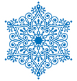 Christmas snowflake design winter embroidery vector image