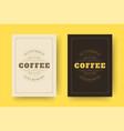 coffee quote vintage typographic style vector image vector image