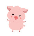 cute smiling happy funny little pig vector image vector image