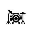 drum solid icon vector image vector image