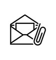 email attachment vector image vector image