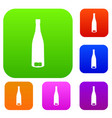 empty wine bottle set collection vector image vector image