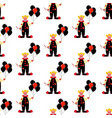 evil clown seamless pattern vector image vector image