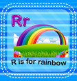 flashcard letter r is for rainbow vector image vector image