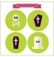 Flat Halloween Death Website Icons Set vector image vector image