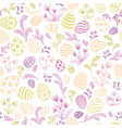floral holiday pattern easter egg seamless vector image vector image