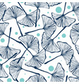 gingko biloba seamless background pattern vector image vector image