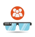 glasses technology team application media vector image vector image