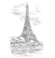 hand drawing paris 1 vector image vector image