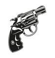 handgun vintage template vector image vector image