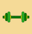 icon in flat design dumbbell vector image vector image