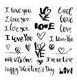 love lettering and symbols vector image vector image
