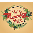 Merry Christmas background with Typography vector image