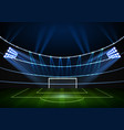 night football stadium with the wall of lights vector image