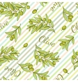 Olive Stripped Pattern vector image vector image