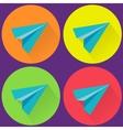 Paper Plane Icon Symbol Set vector image