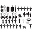 people pictograph for easter vector image vector image