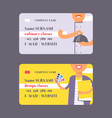 people professions set business cards vector image