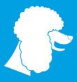 poodle dog icon white vector image