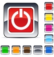 Power square button vector image vector image