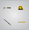 realistic claw plumb ruler sharpener and other vector image vector image