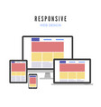 responsive web design website template on vector image vector image