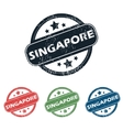 Round Singapore city stamp set vector image vector image