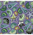 Seamless pattern with sea shells and starfish in vector image vector image