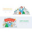 seasonal sales- line design style banners vector image